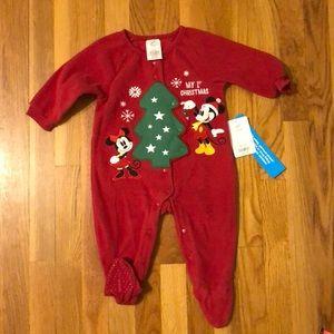 Disney My first Christmas Fleece footie pajamas